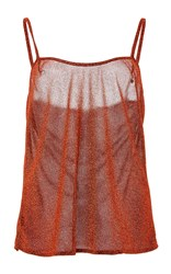 Alcoolique Glitter Tank Top Brown