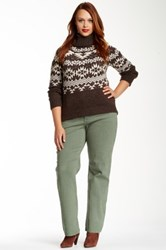 Nydj Hayden Straight Leg Jean Plus Size Green