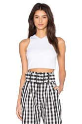 Kendall Kylie Knit Halter Top White