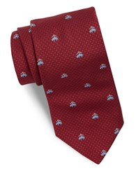 Brooks Brothers Classic Floral Silk Tie Red