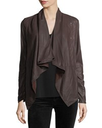Lamarque Cascade Nappalan Leather Jacket Purple