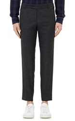 Brooklyn Tailors Men's Basket Weave Trousers Black