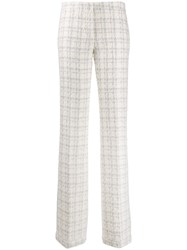 Genny Tweed Woven Low Rise Trousers 60