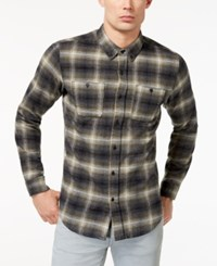 Ezekiel Men's Harborside Plaid Shirt Olive