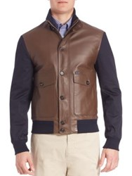Faconnable Ribbed Hybrid Blouson Jacket Derby