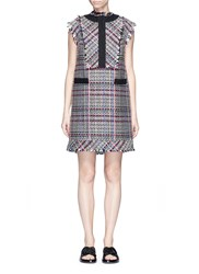 Sacai Bib Panel Summer Tweed Dress Multi Colour