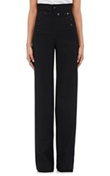 Icons Women's Twill Sailor Wide Leg Trousers Black