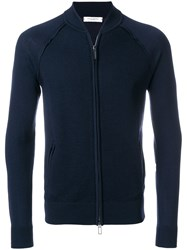 Paolo Pecora Zipped Sweatshirt Wool Xl Blue