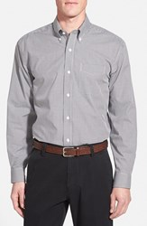 Men's Cutter And Buck 'Epic Easy Care' Classic Fit Wrinkle Free Gingham Sport Shirt Charcoal Grey