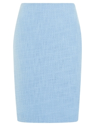 Precis Petite Textured Tweed Skirt Light Blue