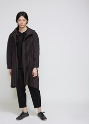 Homme Plisse Issey Miyake Edge Coat Charcoal Gray