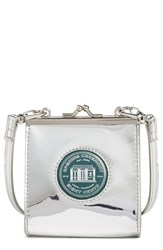 Opening Ceremony 'Coin' Metallic Calfskin Leather Double Clutch