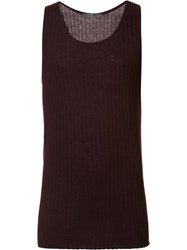 Denis Colomb Ribbed Tank Top Red