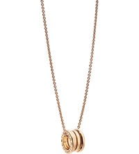 Bulgari B.Zero1 18Ct Pink Gold Pendant Necklace