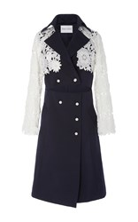 Prabal Gurung Guipure Lace Trench Coat Multi