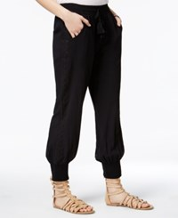 American Rag Smocked Crochet Trim Soft Pants Only At Macy's Classic Black