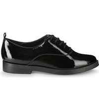 Aldo Thysa Patent Leather Derby Shoes Black Patent