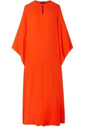 Reem Acra Woman Silk Georgette Midi Dress Orange