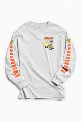 Urban Outfitters Courage The Cowardly Dog Ufo Long Sleeve Tee Silver