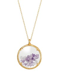 Catherine Weitzman Shaker Birthstone Pendant Necklace February