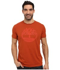Timberland Kennebec River Tree Logo T Shirt Picante Men's T Shirt Red