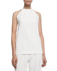 Edun Halter Top With Back Drape Ivory