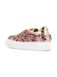 Philipp Plein Embellished Glitter Sneakers Pink And Purple