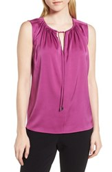 Boss Ismarea Stretch Silk Top Bougainvillea