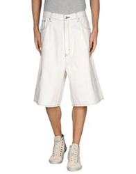 Cheap Monday Denim Bermudas White
