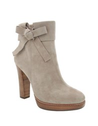 Nina Nell Leather And Suede Ankle Boots Cement