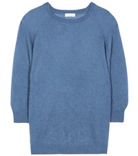 Brunello Cucinelli Mohair And Wool Blend Sweater Blue