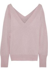 Line Cashmere Sweater Pastel Pink