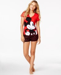 Briefly Stated Mickey Mouse Top And Boxer Shorts Set