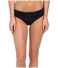 Badgley Mischka Solids Pin Stitch Brief Black Women's Swimwear