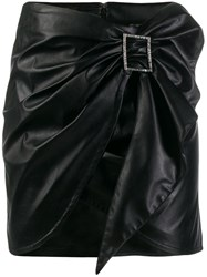 Pinko Draped Mini Skirt Black