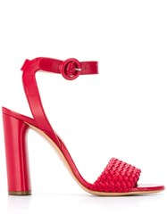 Casadei Ankle Strap Stiletto Sandals Red