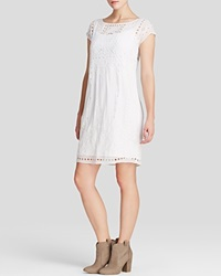 Moon And Meadow Silk Eyelet Dress White