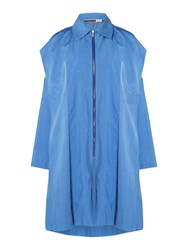Sportmax Code Longsleeve Lightweight Trench Coat Blue