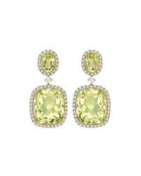 Signature Lemon Quartz And Diamond Drop Earrings Kiki Mcdonough Yellow