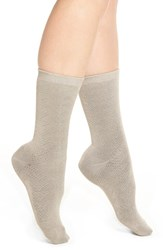 Yummie Tummie Women's By Heather Thomson Reversible Crew Socks Grey