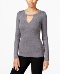 Inc International Concepts Keyhole Sweater Only At Macy's Silver