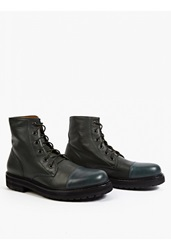 Marc Jacobs Green Leather Military Style Boots