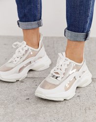 3f7ab86b895 Lace Up Chunky Trainer In White