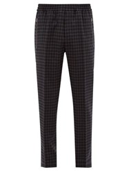 Stella Mccartney Piet Checked Wool Blend Twill Trousers Grey Multi