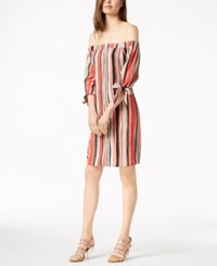 Bar Iii Off The Shoulder Shift Dress Created For Macy's Glazed Berry