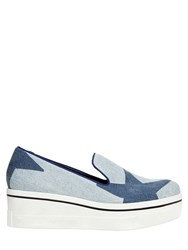 Stella Mccartney 60Mm Binx Star Denim Wedges