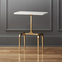 Cb2 Oxford Marble Side Table