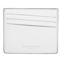 Maison Martin Margiela White And Black Leather Card Holder