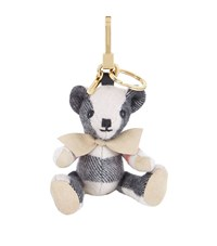Burberry Shoes And Accessories Thomas Check Bear Keyring Female Camel
