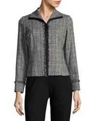 Max Mara Textured Button Front Blazer Black
